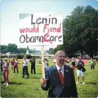 A Tea Party protester on the West Lawn of the Capitol, Washington D.C., September 2013