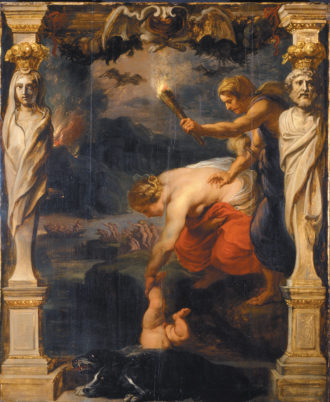 Peter Paul Rubens: Achilles Dipped into the River Styx, circa 1630–1635