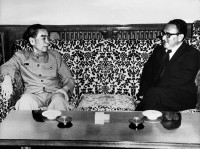 Henry Kissinger meeting with Zhou Enlai during his secret trip to China, July 1971