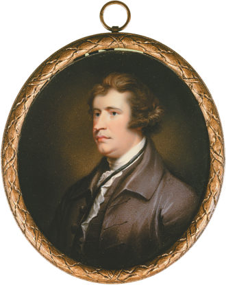 Edmund Burke; miniature portrait, English school, 1795