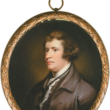 Edmund Burke; miniature portrait, English school, 1795