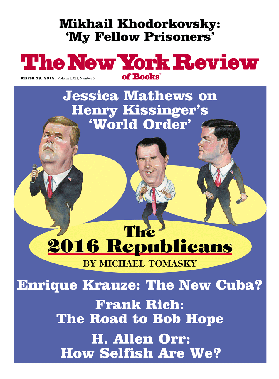 Image of the March 19, 2015 issue cover.