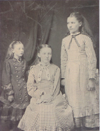 Carrie, Mary, and Laura Ingalls, circa 1879–1881