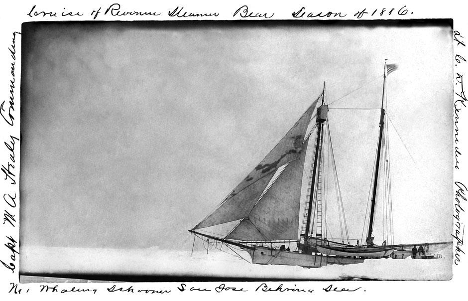 The whaling schooner San Jose, Bering Sea, circa 1886