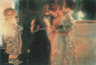 Gustav Klimt: Schubert at the Piano, 1899; destroyed by fire in May 1945