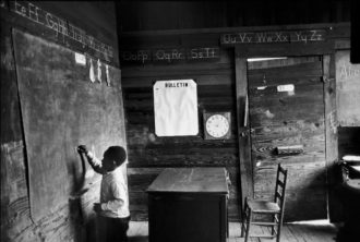 One-room schoolhouse near Selma, Alabama, 1965