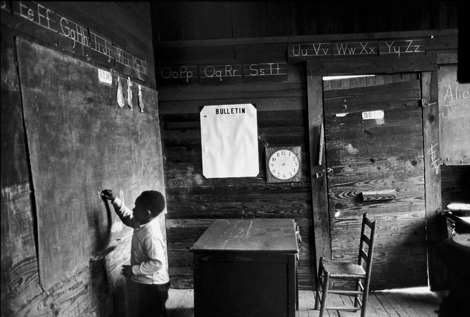 One-room schoolhouse near Selma, Alabama, 1965