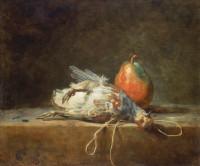 Jean-Baptiste Siméon Chardin: <em>Still Life With Partridge and Pear</em>, 1748
