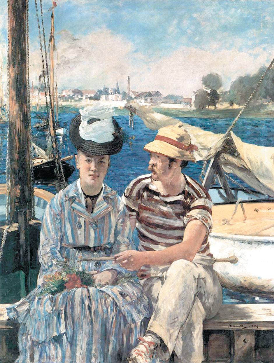 Who Is The Woman In Manet S Painting Of Argenteuil