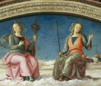 Pietro Perugino: Prudence and Justice (detail), Collegio del Cambio, Perugia, Italy, 1497