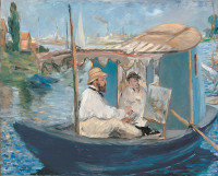 Édouard Manet: The Boat (Claude Monet in His Floating Studio), 1874