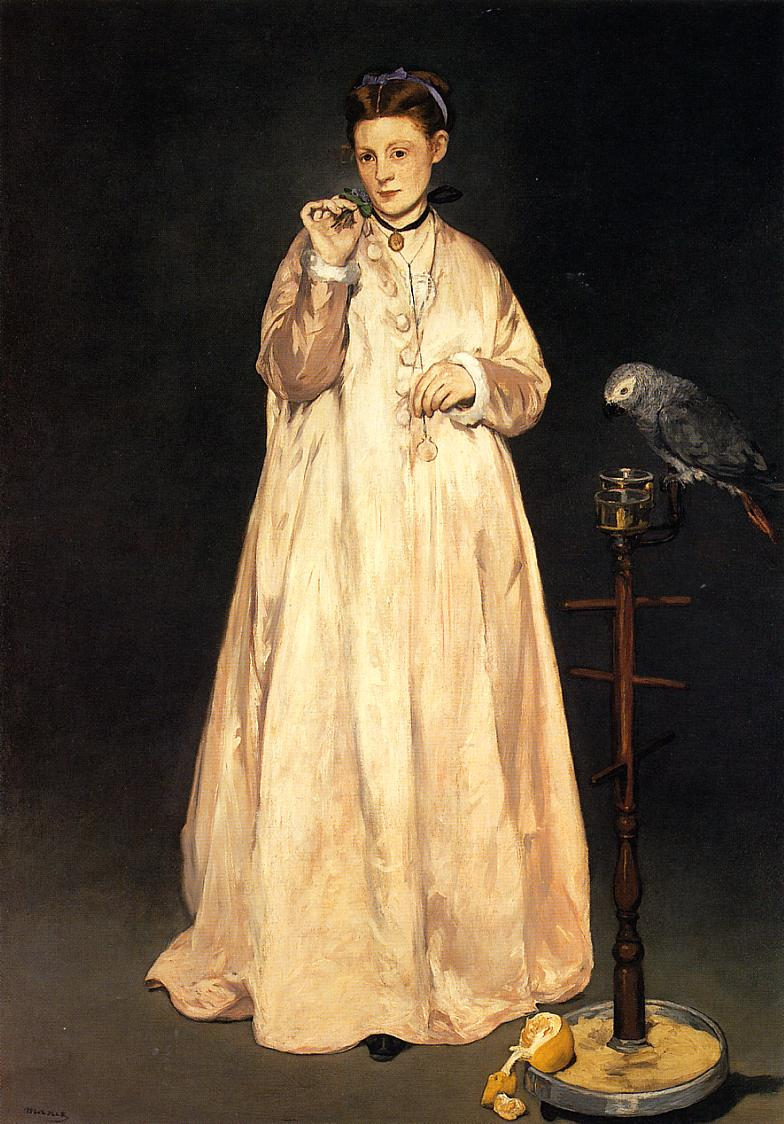 manet woman parrot.jpg
