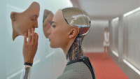 Alicia Vikander as the robot Ava in Alex Garland's Ex Machina