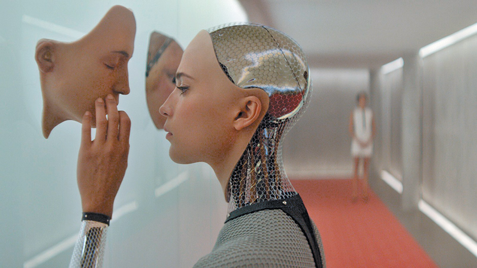 Alicia Vikander as the robot Ava in Alex Garland's Ex Machina