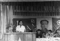 Sin-Lin's mother, Lin Na, when she was the deputy director and Communist Party secretary of a new steel foundry, Fulardi, China, May 1953