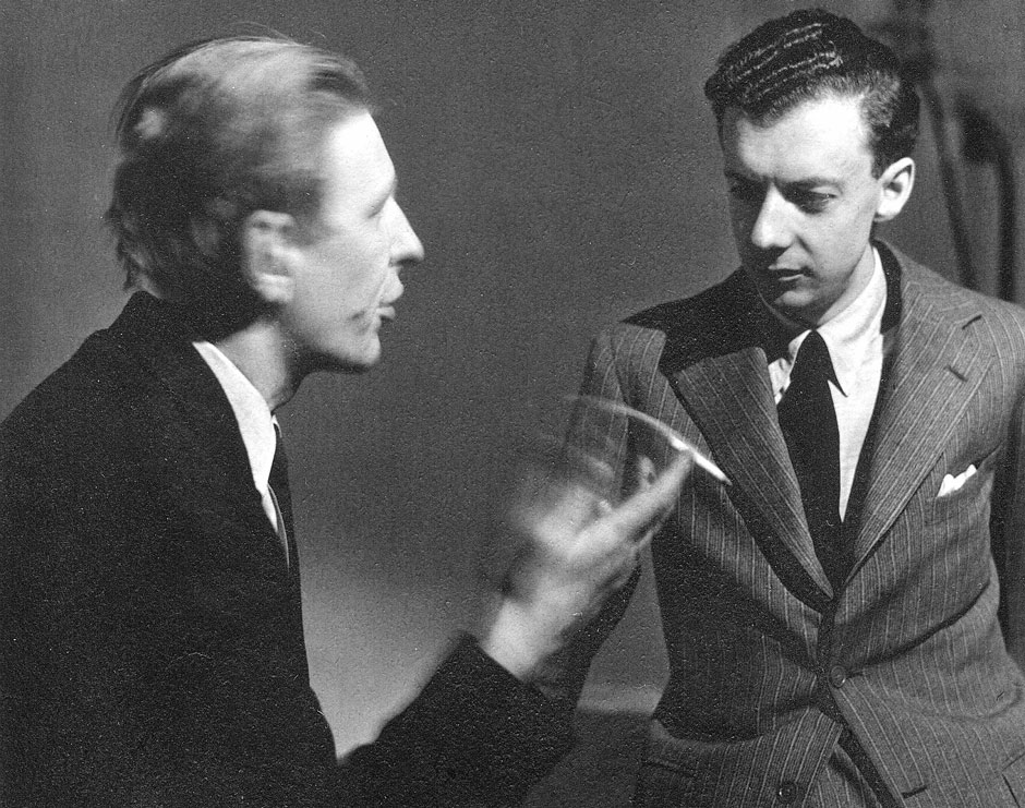 W.H. Auden, left, with Benjamin Britten, 1939-41