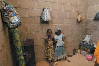 Children who escaped Boko Haram attacks in Michika and Cameroon, Adamawa State, Nigeria, January 2015