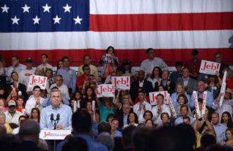 Jeb Bush at a campus at Miami Dade College, Florida, June 15, 2015