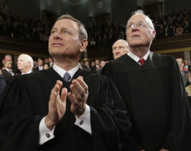 Chief Justice John Roberts and Justice Anthony Kennedy at President Obama's State of the Union address, Washington, D.C., February 12, 2013