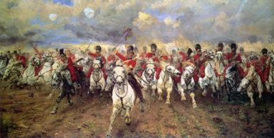 Elizabeth Butler: Scotland for Ever!, 1881 (click images to enlarge)