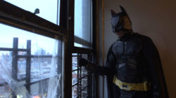 One of the Angulo brothers in a home-made Batman costume, in Crystal Moselle's <em>The Wolfpack</em>, 2015