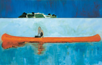 Peter Doig: 100 Years Ago (Carrera), 90 x 141 inches, 2001