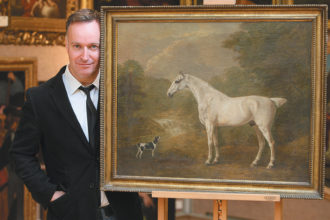 Andrew O'Hagan at Christie's auction house, London, 2010