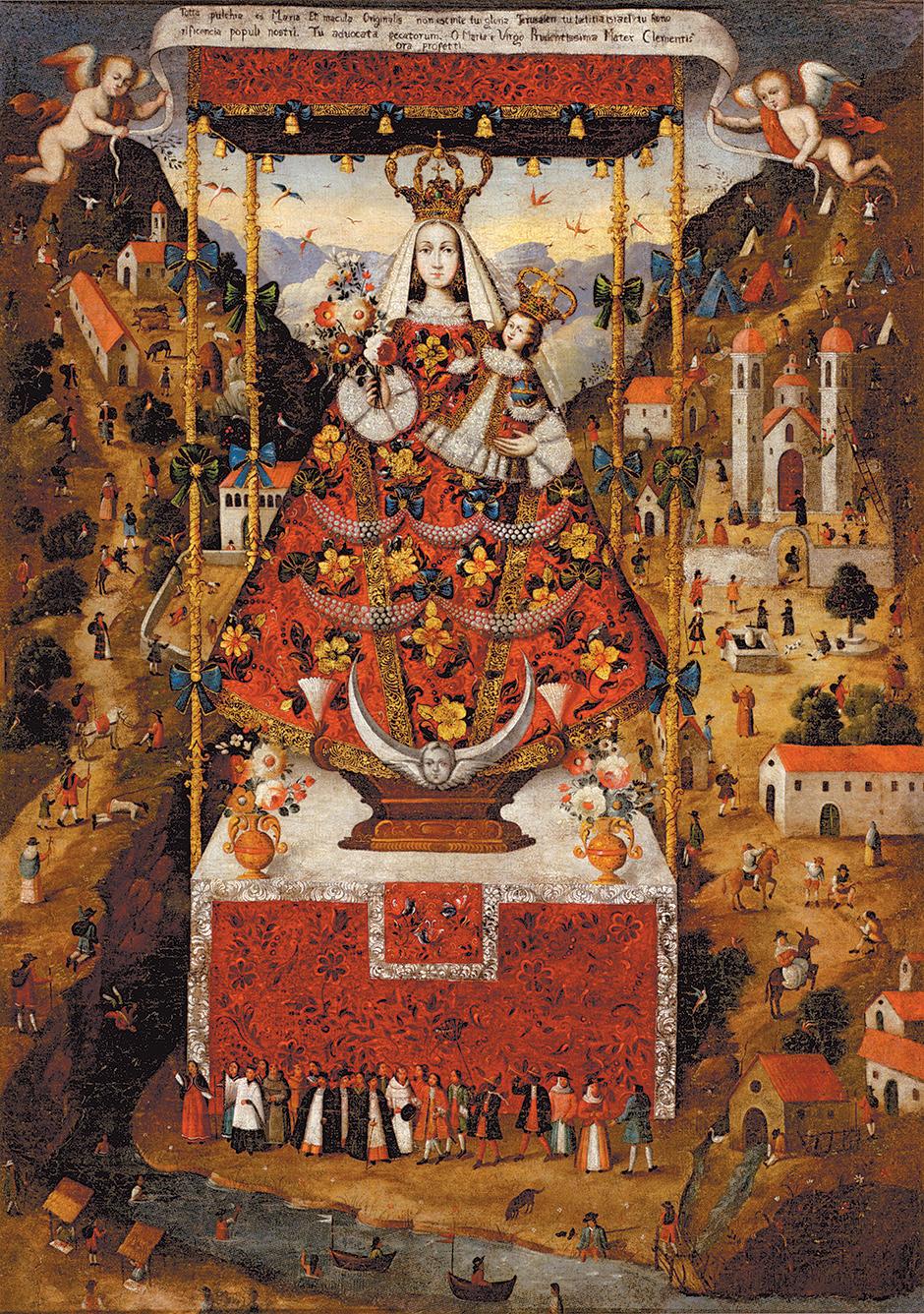 Anonymous Cuzco artist: Virgin of Cocharcas, circa 1730–1750