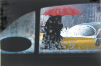Saul Leiter: Red Umbrella, circa 1955