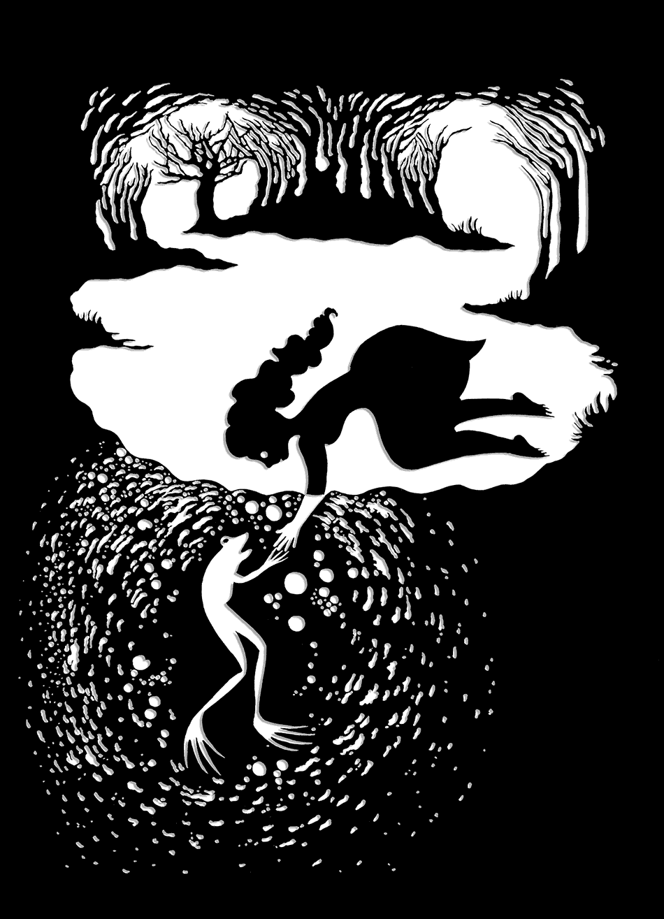 'The Frog King'; illustration by Andrea Dezsö from The Complete First Edition: The Original Folk and Fairy Tales of the Brothers Grimm