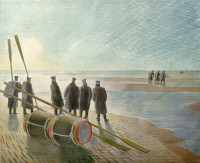 Eric Ravilious: Dangerous Work at Low Tide, 1940