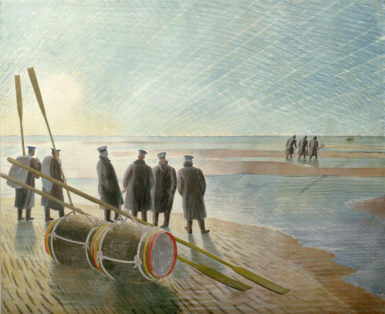Eric Ravilious: Dangerous Work at Low Tide, 1940