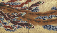 Katsushika Hokusai: <em>Phoenix</em>, 1835 (detail)