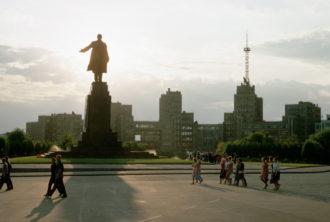 The Lenin monument in Kharkiv, Ukraine, 1967
