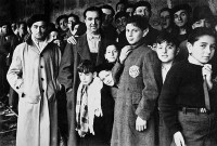 Jewish deportees at the Drancy transit camp outside Paris, 1942
