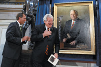 John Boehner and Dennis Hastert at the unveiling of Hastert's portrait at the Capitol, Washington, D.C., July 2009