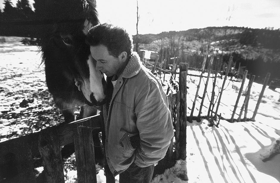 Per Petterson on his farm in Norway, 2000