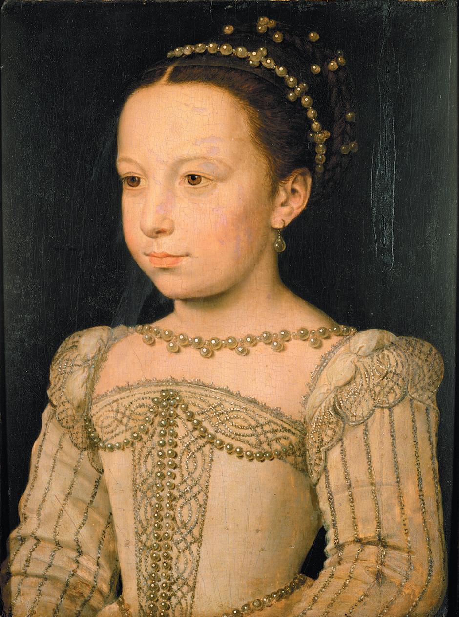 Marguerite of Valois as a child; portrait by François Clouet, circa 1561