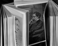 Abelardo Morell: <i>Two Open Books: Ellen Ternan and Charles Dickens</i>, 2000