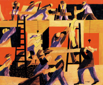 Jacob Lawrence: The Builders, 1947