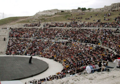 Moni Ovadia's production of Aeschylus's The Suppliants in Syracuse, Sicily, June, 2015