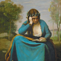 Jean-Baptiste Camille Corot: The Reader Crowned with Flowers (Virgil's Muse), 1845