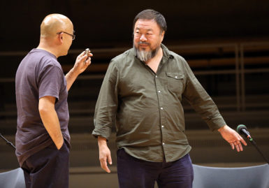 Liao Yiwu and Ai Weiwei, Berlin, September 2, 2015