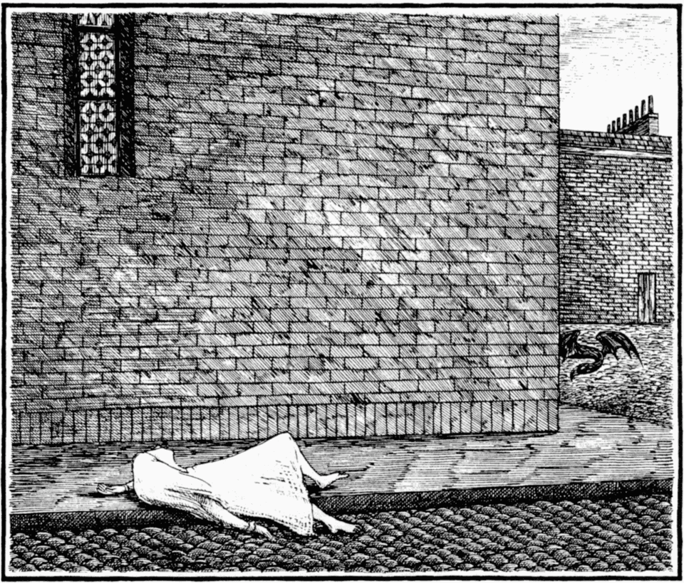 Edward Gorey: She soon lost consciousness.png