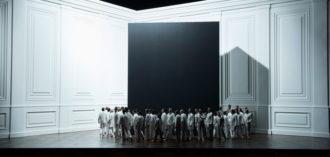 The chorus in Claus Guth's Fidelio, Salzburg Festival, 2015