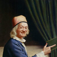 Jean-Étienne Liotard: Liotard Laughing (self-portrait), circa 1770