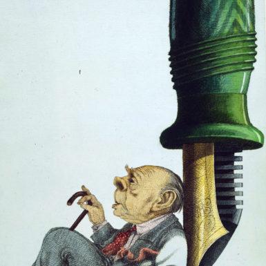 Tullio Pericoli: Jorge Luis Borges, 1987