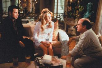 John Travolta, Rene Russo, and Danny DeVito in the film version of Elmore Leonard's Get Shorty