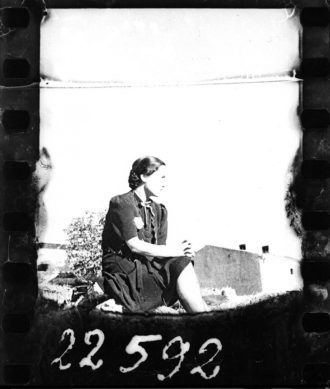 A woman in the Jewish ghetto of Lodz, Poland, 1940–1944; from Memory Unearthed: The Lodz Ghetto Photographs of Henryk Ross, edited by Maia-Mari Sutnik, published by the Art Gallery of Ontario, and distributed by Yale University Press