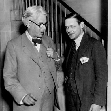 W.B. Yeats and T.S. Eliot meeting in the US, circa 1925